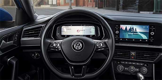 VWジェッタの運転席