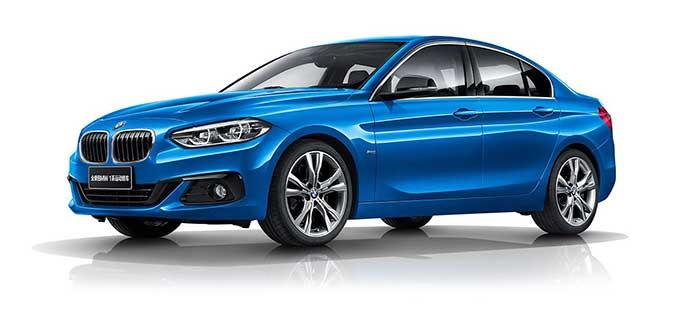 BMW 1シリーズセダン(中国専売モデル)のサイドビュー
