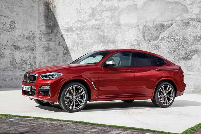 BMW X4のサイドビュー
