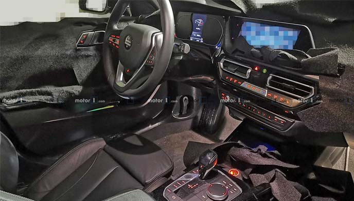 BMW1シリーズ新型のプロトタイプのインテリア