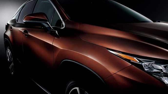 ブラウンカラーのレクサス新型RX