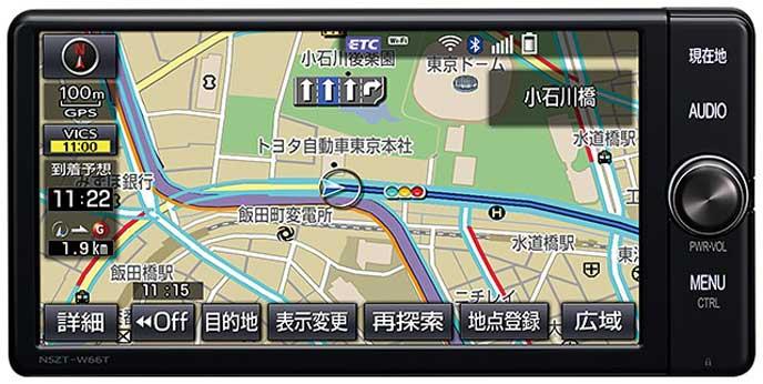 トヨタのT-Connectナビ