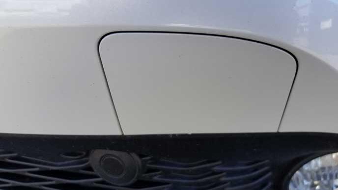トヨタ車のけん引フックの取り付けカバー