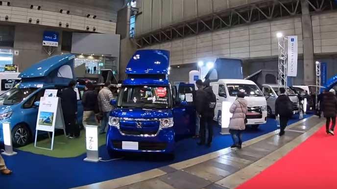 ジャパン キャンピングカーショーの様子