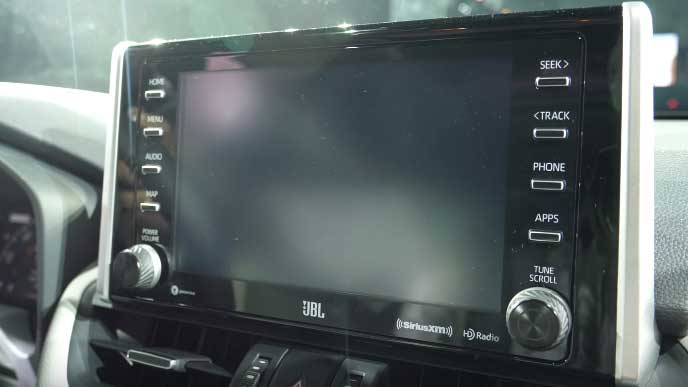 新型RAV4のインフォテインメントシステム