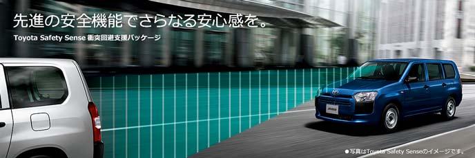 新型サクシードの安全装備トヨタセーフティセンス