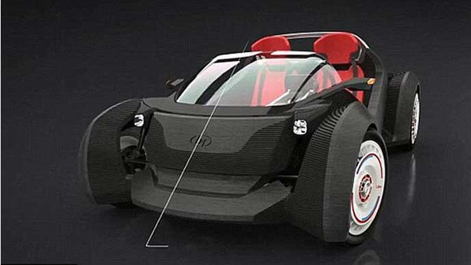 世界初の運転可能な3Dプリンター車