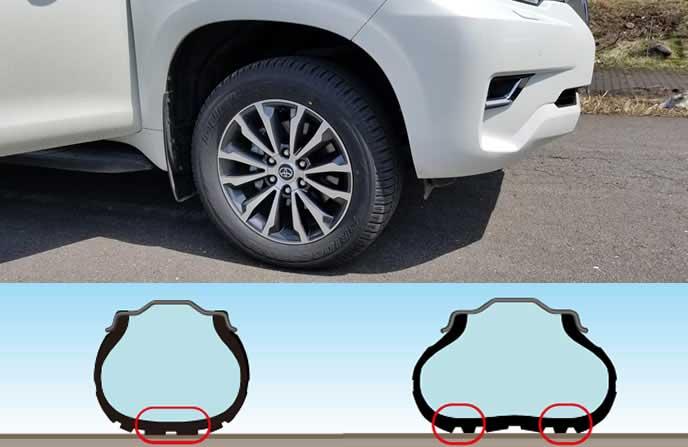 車の空気圧の参考画像