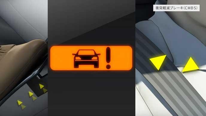 衝突軽減ブレーキシステム(CMBS)の参考画像