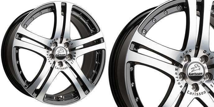 CSシリーズ1/5 EVO DSブラックダイヤモンドエディションのアルミホイール