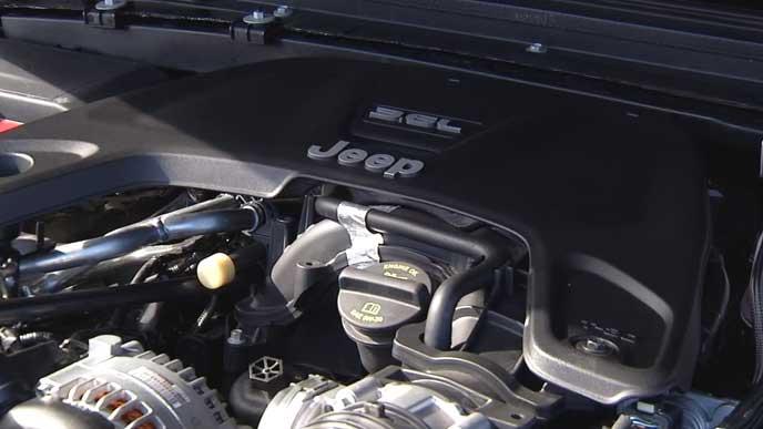 新型ラングラーの3.6L ガソリンエンジン