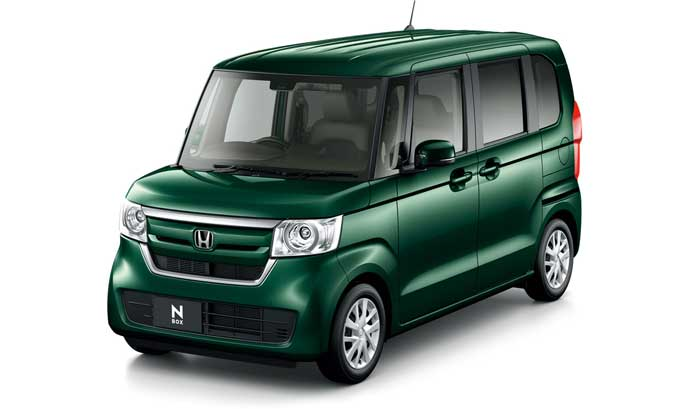 プリティッシユグリーン・パールの新型N-BOXスロープ仕様車
