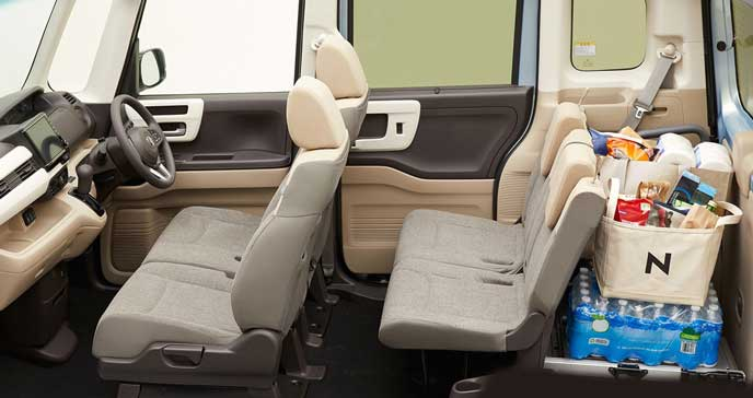 新型N-BOXの4人乗り乗車モード