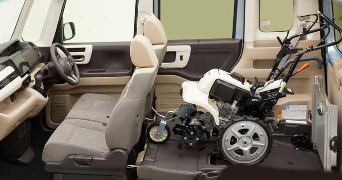新型N-BOXの車いす乗車モード