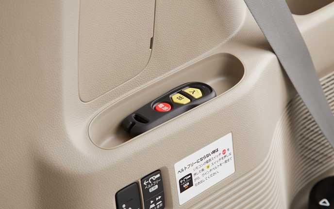 新型N-BOXの電動ウインチリモコン
