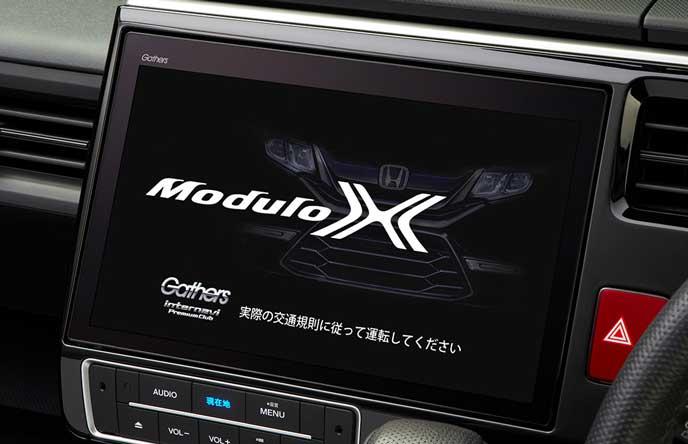新型モデューロXの10インチ大画面ナビ
