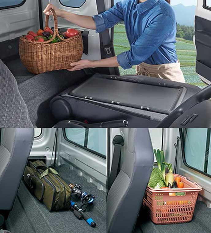 新型スーパーキャリイのシートバックスペース