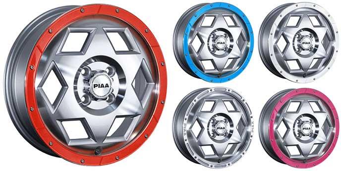 新型タントにおすすめのPIAA ヘックスロードのアルミホイール