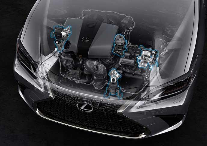 新型ESのハイブリッドエンジン
