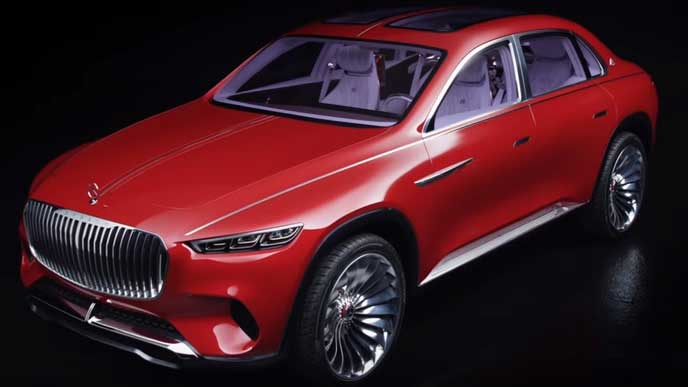 メルセデス・マイバッハ新型SUVのフロントビュー