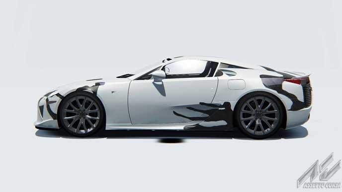 LFAアートカーのサイドビュー