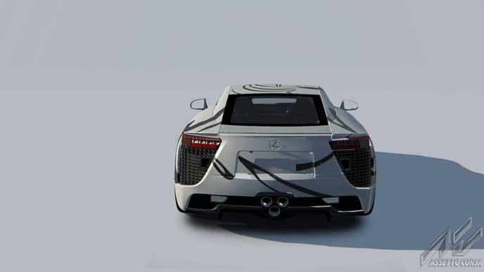 LFAアートカーのリヤビュー