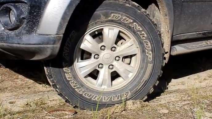 ダンロップ GRANDTREK MT2のタイヤ