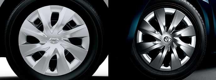 スペイドの純正ホイールと特別仕様車の純正ホイール