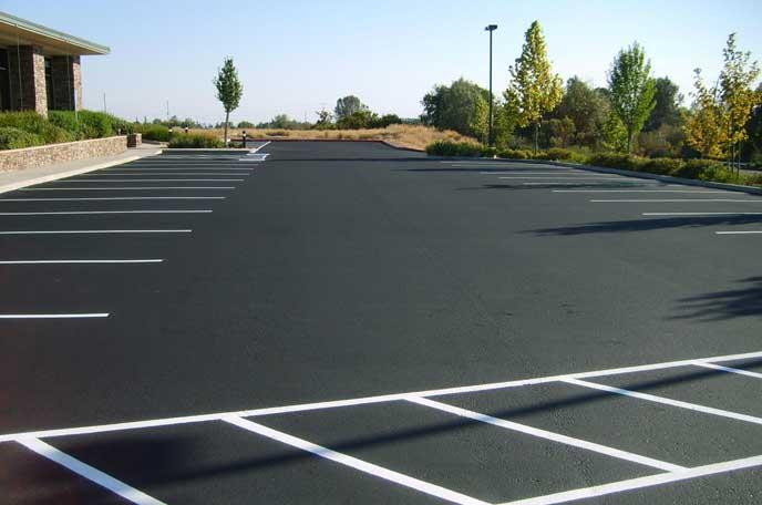 海外の広い駐車場