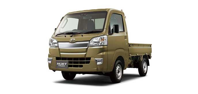 オフビートカーキメタリックのハイゼット トラック