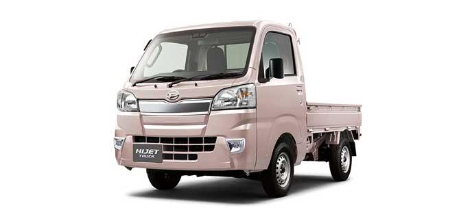 ライトローズマイカメタリックのハイゼット トラック