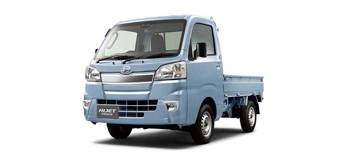 ミストブルーマイカメタリックのハイゼット トラック
