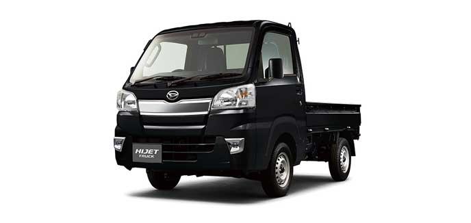 ブラックマイカメタリックのハイゼット トラック