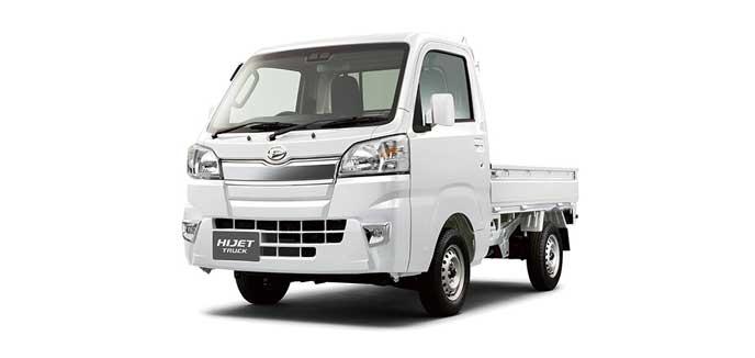 ホワイトのハイゼット トラック