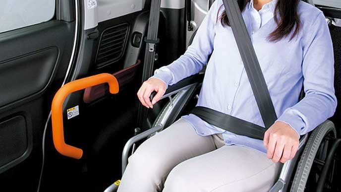フレアワゴン車いす移動車の室内スペース
