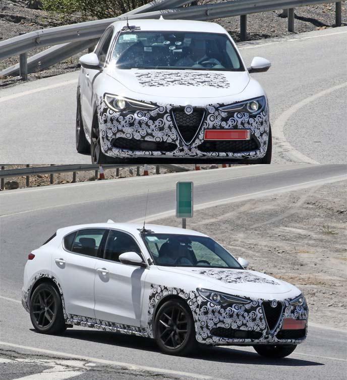 アルファロメオ新型ステルヴィオの開発車両