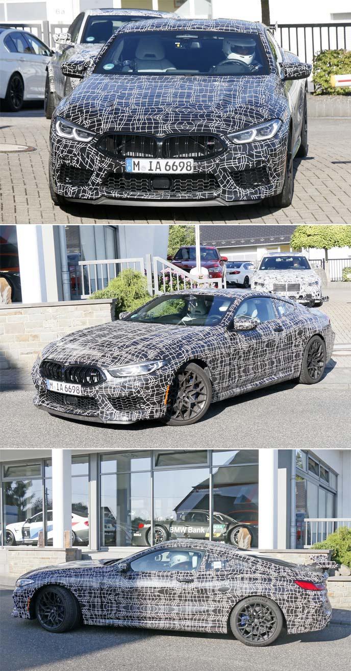 BMW M8クーペ「CS」と思われる開発車両