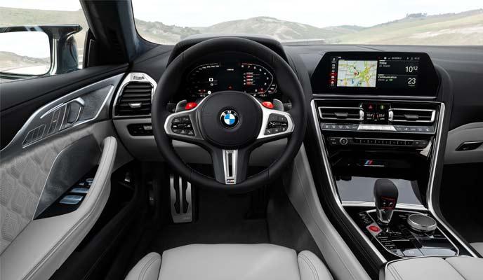 BMW M8グランクーペのインテリア