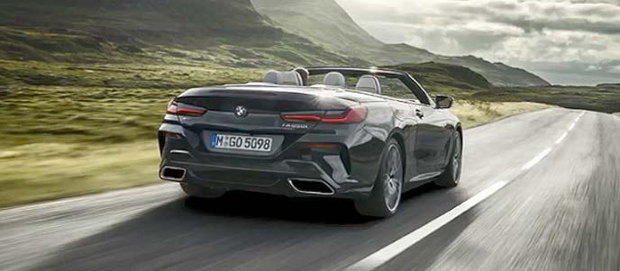 BMW「新型8シリーズ カブリオレ」最高級オープンモデルのリヤのエクステリア