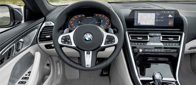 BMW「新型8シリーズ カブリオレ」最高級オープンモデルのインテリア