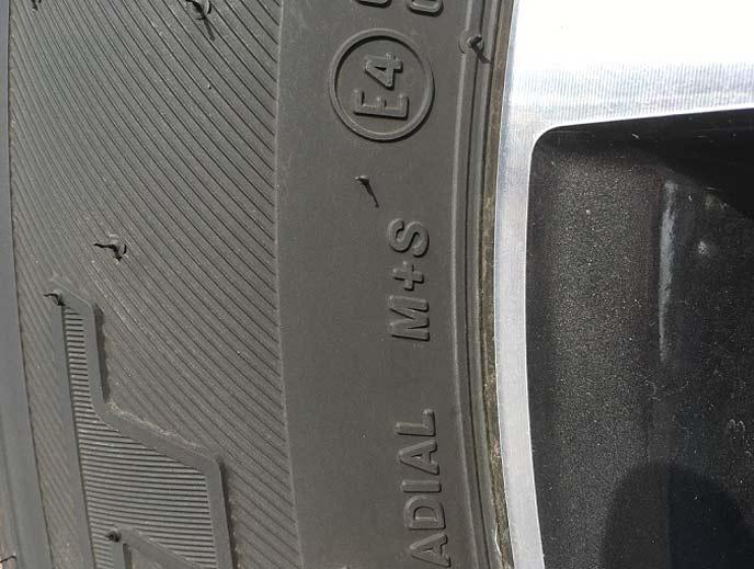 M+Sと表記されているマッドテレーンタイヤ