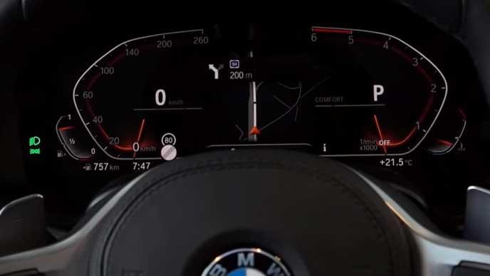 BMW X5のメーターパネル