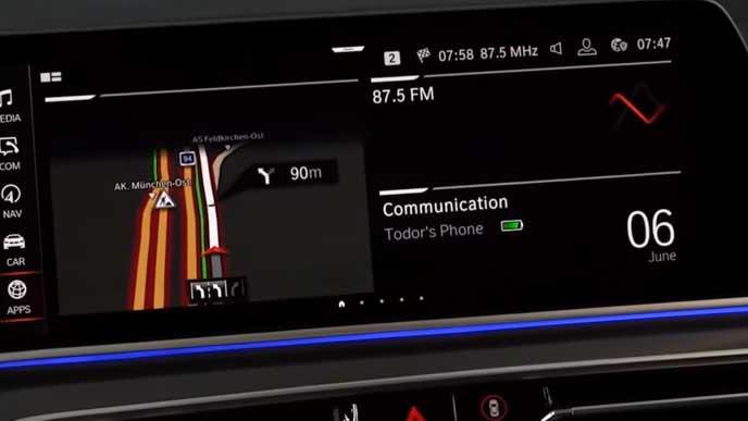 BMW X5のエンタイテインメントシステム