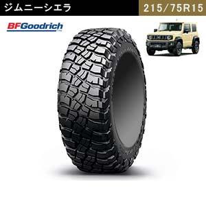 ジムニーシエラにおすすめのBFGoodrich Mud-Terrain T/A KM3 LT215/75R15  100/97Q LRC RBLのタイヤ