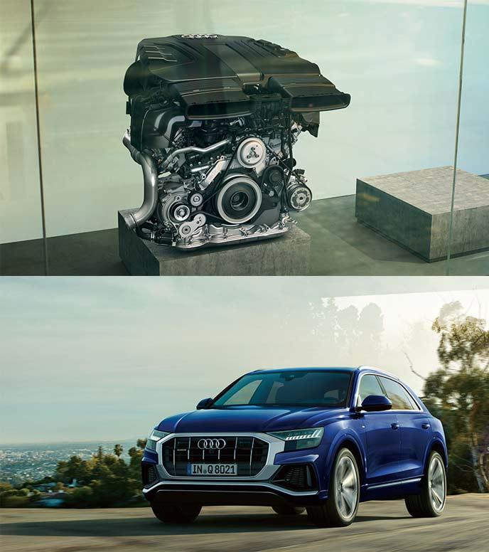 3.0TFSIエンジンandマイルドハイブリッド(MHEV)と4WDシステムのquattro