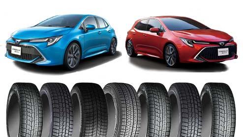カローラスポーツのスタッドレスタイヤは偏平率の高い16インチがピッタリ