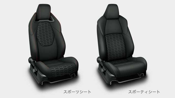 新型カローラスポーツのフロントシート