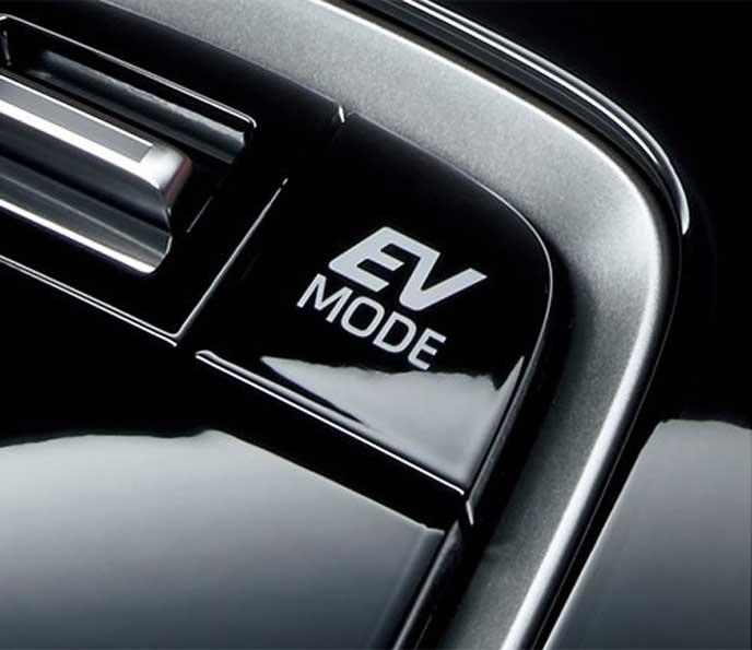 新型カローラスポーツのEVドライブモードスイッチ