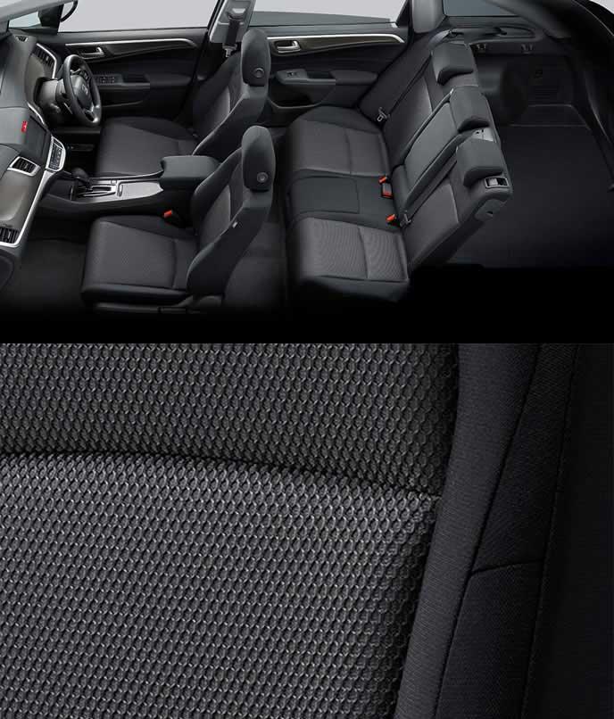 新型ジェイドのファブリックとトリコット素材のブラックシート