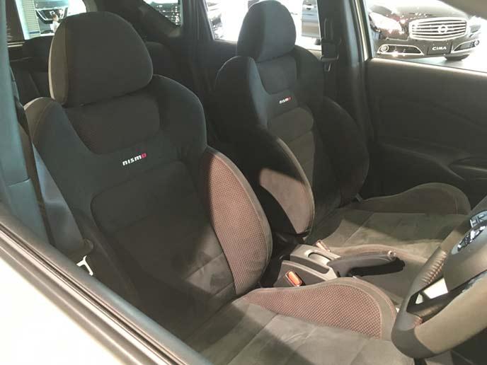 新型ノートNISMOのフロントシート